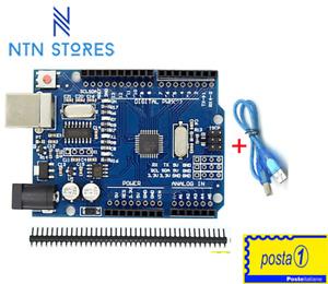 Scheda ATmega328P CH340 (+cavo) compatibile con progetti IDE per Arduino uno R3