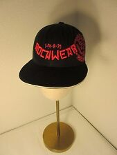 Rocawear Cap Hat Black Red Embroidered Size 7 3/8