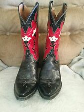 Lucchese Black & Red Western Cowboy Boots - NR