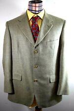 Brooks Mens Three Button Wool Silk Herringbone Sport coat 42R