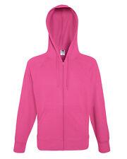 Fruit Of The Loom Mens Lightweight Full Zip Hooded Raglan Sweat Jacket