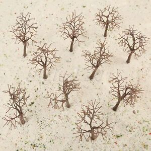 10pcs Brown Model Bare Trunk Tree Plastic 12cm Train Railway Scenery HO OO scale