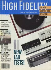 High Fidelity Mag Oct 1983Sony CDP-701ES,Apt Holman 2,Pioneer F-90,Oracle TT