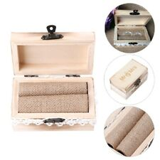 Mr & Mrs Rustic Wood Ring Boxes Wedding Jewelry Holder Display Box Case Gifts