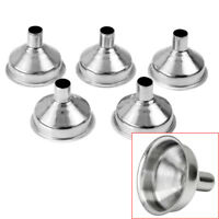 5 Pcs Mini Stainless Steel Liquid Funnel Wide Mouth Kitchen Oil Canning Tool