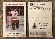 1986-87 MONCTON GOLDEN FLAMES BILL RANFORD GOALIE Pre Rookie Card #1