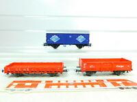 BT497-0,5# 3x Roco H0/DC Güterwagen DB NEM: Senf + Cargo etc, gute 2. Wahl