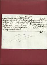 Ricevuta di Acquisto Tessuti per Lavori Palazzo Scalandroni Polcanto 1746