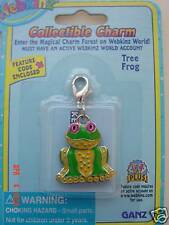 Webkinz Tree Frog Collectible Charm VHTF NEW WITH CODE