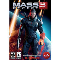 Mass Effect 3 (2 Disc PC, DVD-ROM, Game Rated M, 2012) EA Games, BioWare, Scale