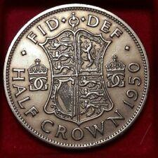 1950 GREAT BRITAIN 1/2 CROWN -  Britain Half Crown Bin/6 KM# 879, Sp# 4106