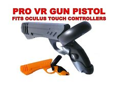 More details for vr gun pistol grip pro fits oculus quest 1 and rift s touch controllers.