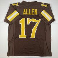 New JOSH ALLEN Wyoming Brown College Custom Stitched Football Jersey Men's XL