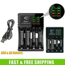 4 Slot Intelligent Fast LED Charger For AAA AA Ni-Cd Ni-MH Rechargeable Battery.