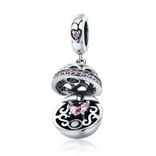 S925 Sterling Silver Gift Of Love Charm With Cubic Zirconia Stones