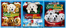 Disney Dog Christmas Movie Bundle Santa Buddies Santa Paws 1 and 2 Blu-ray & DVD