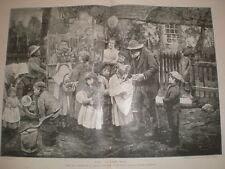 El hombre Gundy por R Gemmell Hutchison 1897 antiguos impresión mi ref L Village Fete