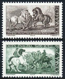 Poland 1448-1449, MNH.Michalowski:Stableman with Percherons, Horses & Dogs,1966