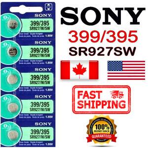5 pcs SONY 399 395 SR927SW Silver Oxide 1.55V Watch Battery EXP 2028 FREE RETURN