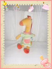 X - Doudou Peluche Girafe Vert Jaune Orange Les Loustics Moulin Roty