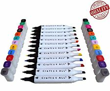 Fabric Markers Permanent NON BLEED-12 Pack premium quality bright dual tip st...