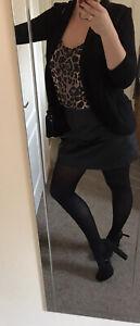 Womens Leopart Print Sexy Top Blouse Tunic Vest Uk 12
