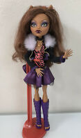 Monster High Clawdeen Wolf Doll  W/ Stand / EUC / HTF