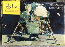 RARE 1971 HELLER CADET Lunar Space Model Kit L019 MODULE LUNAIRE Unbuilt GOOD