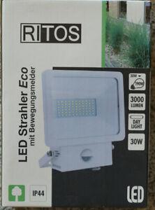 RITOS/REV LED Strahler Eco mit Bewegungsmelder  30W  weiß, IP44