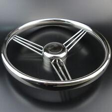 Clean-cut 13.5'' 9 Spoke Polished Stainless Boat Marine Steering Wheel 15 Degree