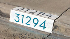 "Modern Curb House Number Stencil; 4"", Mid Century, Palm Springs, Neutra, Atomic"