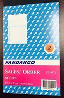 5 Pack: 2 part Carbonless Sales Order Books Receipt Form Invoice 50 Set 4.5x7.5