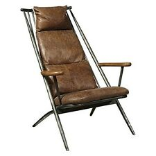 Right2Home P006204 Accentrics Home Metal Frame Accent Chair Brown NEW