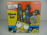 The Simpsons Vintage Chess Set In Tin Collectors Box 100% complete 2000