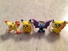 Pokémon Pickachu Characters Adjustable Children's Rings Plastic With Metal Band