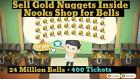 ⚡Max Bells & Nook Miles Tickets - All DIYs, Golden Tools, Materials ✅ONLINE NOW✅