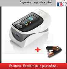 Oxymètre de pouls + piles doigt Blood Oxygen Finger Pulse Oximeter Oxymeter