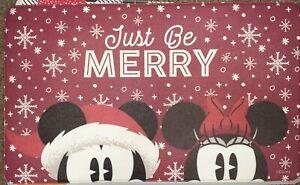"Disney Christmas Mickey Minnie Be Merry Holiday Anti Fatigue Mat Rug 18x30"""