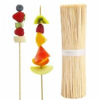 """90PCS 6~12"""" Bamboo Skewers Wooden BBQ Sticks Tool For Shish Grill Kabobs Fruits"""