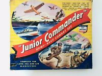 VICTORY TOYS US ARMY  NAVY COMBAT SET CARDBOARD PLAY SET 1940'S JUNIOR COMMANDER