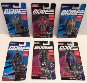 GI Joe mini figures Limited Edition Set of 6 NEW Sealed! Snake eyes, Duke