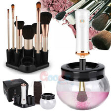Automatic Electric Makeup Brush Cleaner Dryer 8 Rubber Collar W/ 2Aaa Batteries