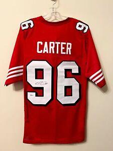Andre Carter Signed San Francisco 49ers Jersey Beckett BAS COA Cal Bears RARE