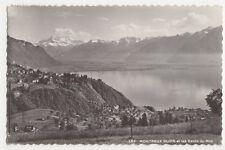 Switzerland, Montreux Glion, et les Dents du Midi 1927 RP Postcard, B263