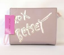 Betsey Johnson Wristlet Cosmetic Grey Handbag Purse XOXO Betsey BM18755 New $48