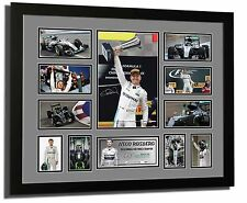 NICO ROSBERG 2016 F1 WORLD CHAMPION SIGNED LIMITED EDITION FRAMED MEMORABILIA