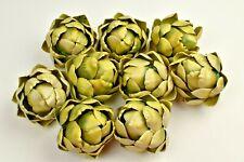 Home Decor ARTICHOKE lot of 9 Lifelike Decorative Plastic Artificial Fake Fruit