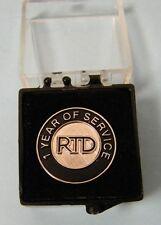 Rtd Regional Transportation District Denver 1 Yr Service Pin Sterling Unused Nm
