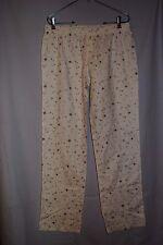 XHILARATION Cream Gray Silver Flannel Pajama Bottoms Size S w Stars