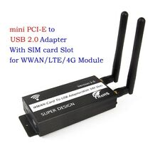 Mini PCI-E PCI-Express to USB Adapter with SIM Card Slot for WWAN/LTE/4G Module